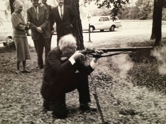 Karl Barth shooting rifle